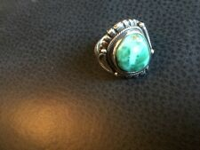 kind ring, signed and marked sterling silver Turquoise unisex size 8 one of a