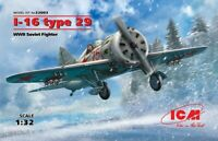 ICM 32003 I-16 type 29, WWII Soviet Fighter 1/32 scale model kit 191 mm