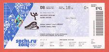Orig.Ticket  Olympic W.Games SOCHI 2014 - Ice Dancing Compulsory Dance  !!  RARE