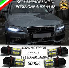 KIT LAMPADE POSIZIONE LUCI DIURNE DRL P13W 18 LED CANBUS 6000K AUDI A4 B8
