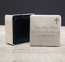 Personalised Trinket Box Cross Gifts for Goddaughter Godson Holy Communions Girl