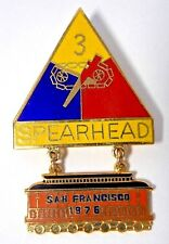 US ARMY 3RD ARMORED SPEARHEAD DIVISION 1976 SAN FRANCISCO VET REUNION PINBACK