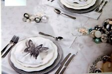 Deer Christmas Tablecloth Silver Tablecloths,Table runner,Place mats,Napkins