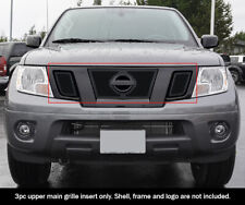 Fits 2009-2020 Nissan Frontier Upper Stainless Black Mesh Grille Grill Insert
