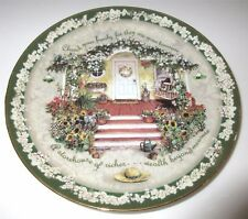 CHERISH YOUR FAMILY Plate 1st In Welcome Home Series Victorian Porch Glenna Kurz