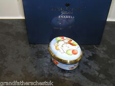 BORDER FINE ARTS THE SNOWMAN ENAMEL A4001 THE SNOWMAN WITH BALLOONS OVAL BOX BNB
