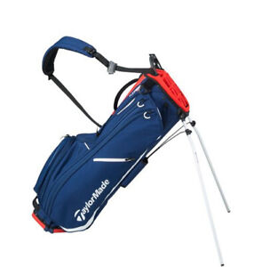 NEW TaylorMade Flextech Lite Navy/White/Red Single Strap 4 Way Golf Stand Bag