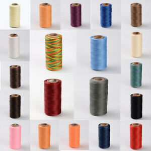 260m/roll Flat Waxed Polyester Cords Sewing String Jewelry Craft Threads 1x0.3mm