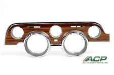 1968 Ford Mustang or Shelby Instrument Bezel Woodgrain Metal Backed NEW