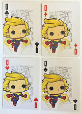 CAPTAIN MARVEL Set of 4 FUNKO Pop MARVEL Playing Cards - ACE,KING,QUEEN,JACK