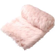 Logan and Mason Presley Blush Pink Faux Fur Throw 130cm X 180cm Rrp149.95