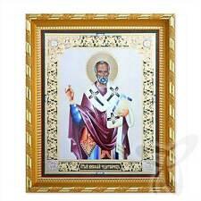 Ikone Heilige Nikolaus Holz 21x18 Николай Чудотворец Святитель 3 икона