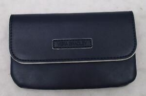 Vera Bradley Faux Leather Snap & Zip Case Navy  NWT