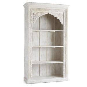 MADE TO ORDER Mehrab Indian Carved Arch Window bookshelf book display shelf B03