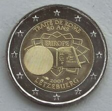 """2 Euro Luxemburg 2007  """"Römische Verträge"""" unz"""