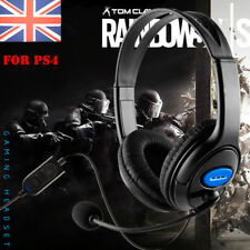 DELUXE BLACK HEADSET HEADPHONE WITH MIC VOLUME CONTROL FOR PS4 XBOX ONE LAPTOP