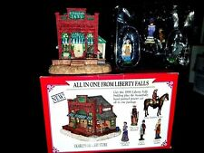 Liberty Falls 1998 Dearly'S Grocery Store 5 Hand Painted Pewter Figurines