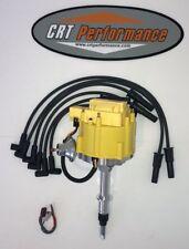 Jeep AMC GM HEI Distributor YELLOW + Plug Wires BLACK CJ5 CJ7 YJ ETC 258 4.2L