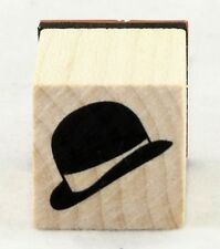 Bowler Hat Wood Mounted Rubber Stamp Inkadinkado NEW party invite scrapbook art
