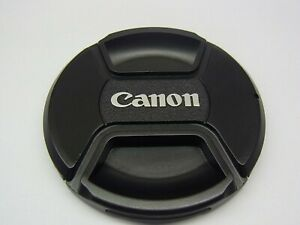 77mm Front Lens Cap Center Pinch Snap on for Canon Camera Plastic OEM
