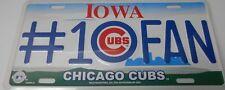 Iowa Chicago Cubs #1 Fan License Plate      #K-12