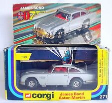 Corgi Toys 1:36 JAMES BOND 007 ASTON MARTIN DB.5 + 2x Villain #271 NMIB`77 RARE!