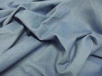 Cotton CORDUROY Fabric Material 11 Wale - PALE BLUE