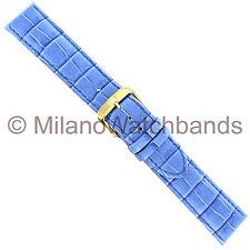 20mm Di Modell Bali Royal Blue Louisiana Alligator Patterned Calfskin Watch Band