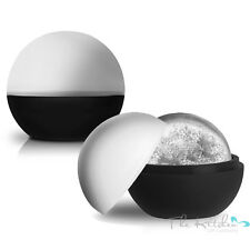 Set of 2 XL Sphere Round Ice Ball Maker - Large Silicone Whiskey Ice Ball Mould