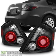 Black Housing w/Smoke Signal Lens For 2007-2012 Altima Sedan Tail Lights Lamps