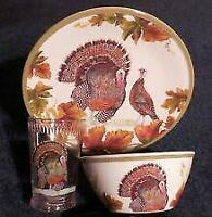 Williams Sonoma Melamine Thanksgiving Turkey Children's Dishes NIB SHIP FREE