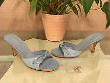 Ladies Jones Bootmaker Jasmin blue leather denim slip on mules UK 7 EU 40 BNIB