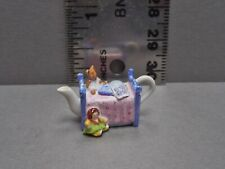 Cute 1:12 Scale Miniature Child's Bed Porcelain Teapot