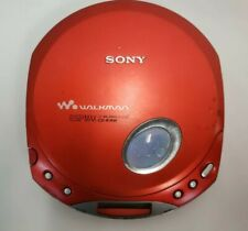 Sony D-E350 CD Walkman ESPMAX. Red In Color. Tested.