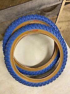NOS Old school bmx Schwinn Predator Tires 16 Blue pit Haro GT Redline Hutch SE