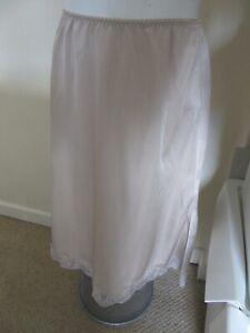 Vintage ladies beige half slip underskirt petticoat size medium by warner