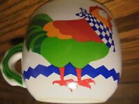Vtg 1996 FTD Rooster Chicken Mug Soup Bouquet Oversized Coffee Farm Decor     62