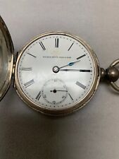 elgin pocket watches antique Coin Silver