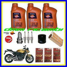Kit Tagliando HONDA HORNET 600 09 Filtro Aria Olio Candele Pastiglie Freno 2009