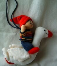Vintage old swan boy toy doll figure fairy tale plush