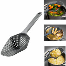 Colander Scoop Spoon Cooked Food Strainer Pasta Vegetable Rice Drainer Black New