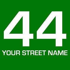 3x WHEELIE BIN NUMBER STREET NAME STICKERS WATERPROOF VINYL DECALS