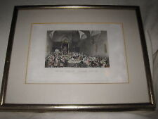 """H. Melville Engraving """"The King Proroguing Parliament April 1831"""" Fisher London"""
