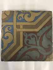 Villeroy & Boch Art Tile, Arts & Crafts, Art Pottery, Mettlach, 6.5 x 6.5