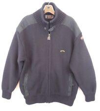 PAUL & SHARK YACHTING Mens Sz M Wool Navy Blue Full Zip Cardigan Sweater Jacket