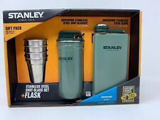 Stanley Stainless Steel Shots + Flask Gift Set Hammer Tone Green