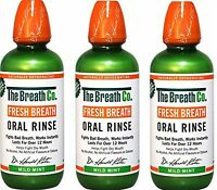 3 x The Breath Co Alito Fresco Orale Risciacquo 500 Ml Dolce Menta ( Cattivo)