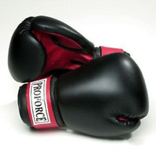 Boxing Glove Winning Pro Leather Muay Thai Training Twins Black Gloves 12 oz ..