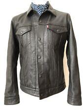 Levis Leather Trucker Type 3 Jacket Big Capital E Size M Vintage Style RARE LVC