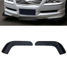 2x Universal ABS Front bumper spoiler Car Scratch Resistant Forewing Canard Lip
